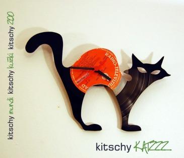 STENSKA URA Čarovniška Mačka. WALL CLOCK Wizards Cat