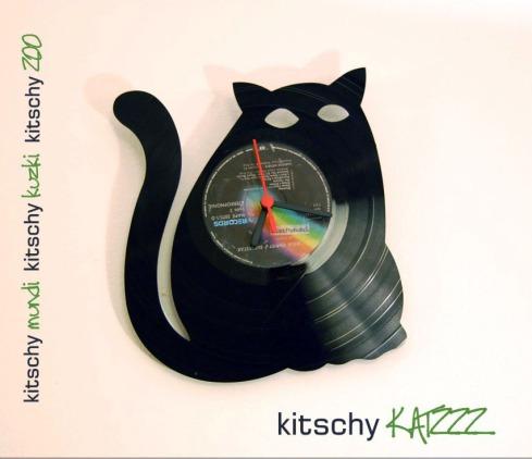 STENSKA URA Debeluškasta Mačka . WALL CLOCK Cat