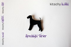 BROSKA Airedalski Terier . BROOCH Ariedale Terrier
