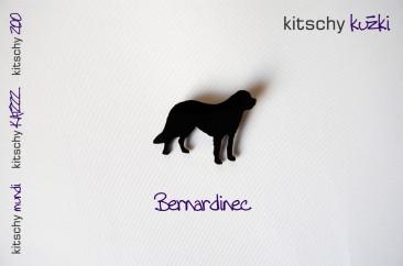 BROSKA Bernardinec . BROOCH Saint Bernard Dog