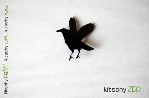 BROSKA Krokar . BROOCH Raven